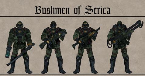 Bushmen of Serica by Martechi