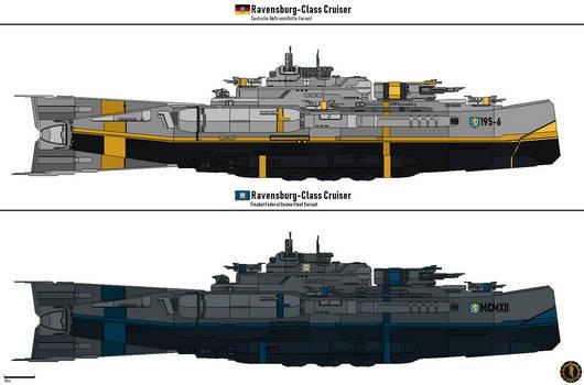 Ravensburg-Class Cruiser (Finabel Cosmo Fleet) by Martechi
