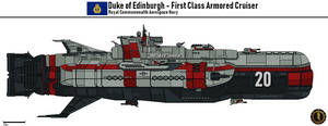 Duke of Edinburgh Armored Cruiser (Commonwealth) by Martechi