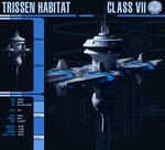 Trissen Class VII Habitat Station by Martechi