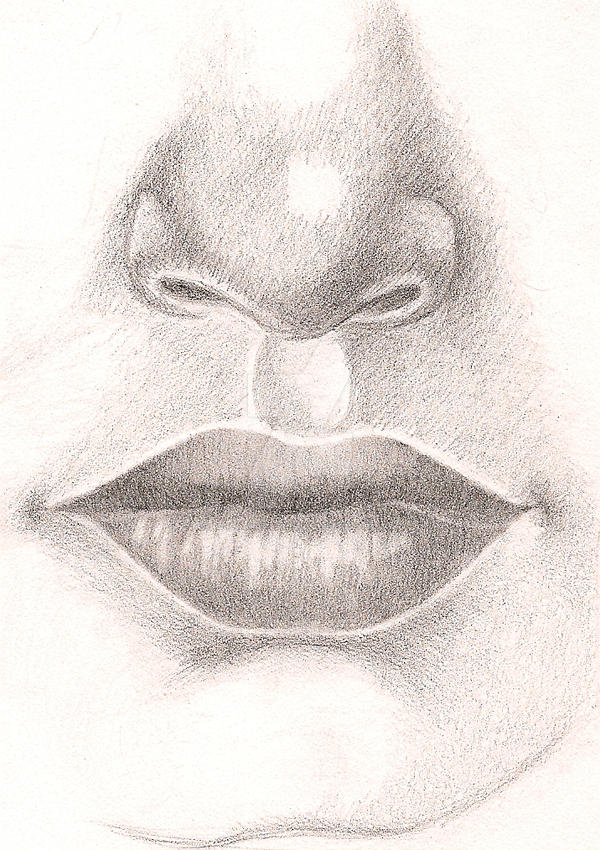 Line Drawing Nose : Project nose and mouth by nogoodnamesremain on deviantart