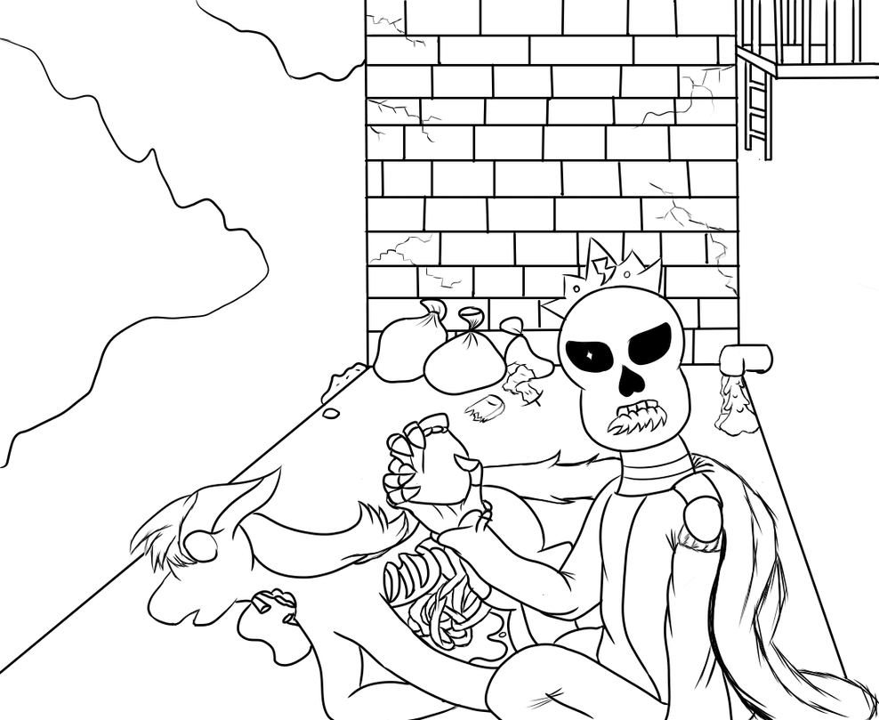 Corrupted Pages Coloring Pages