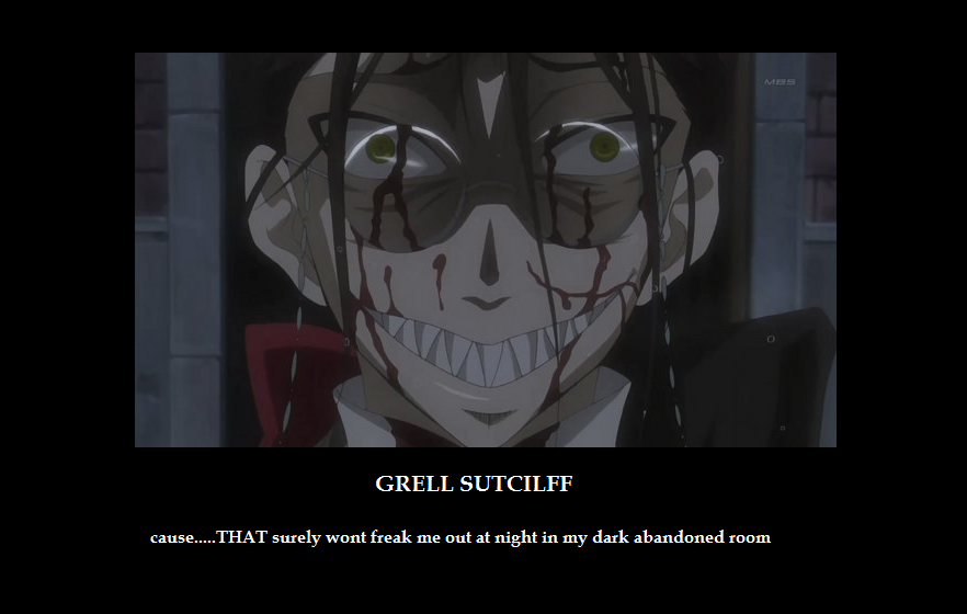 black butler grell sutcliff by birdflashlover on deviantart