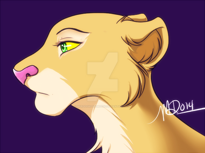 A Lone Lioness by MurderWithAMoose