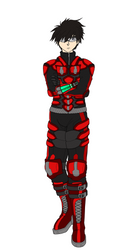 Character Comission: Koruso Hero Suit by RebiTora