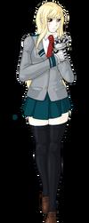 Shiori in MHA Seifuku by RebiTora