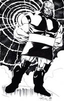 Darkseid inks 4 Jeremy Dale by ladykelly