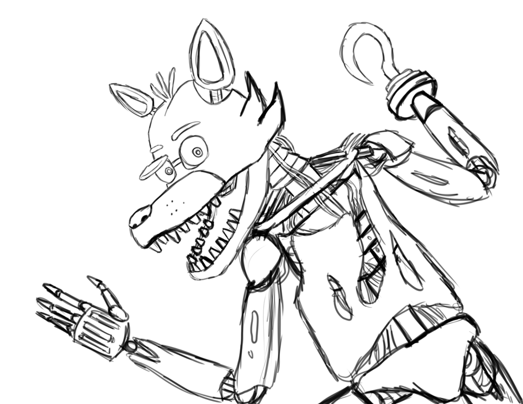 foxy coloring pages - five nights at freddy 39 s foxy by blazerona on deviantart