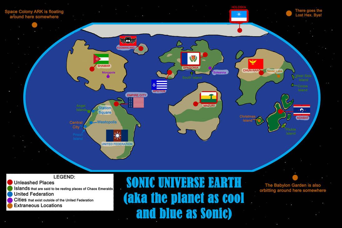 Sonic Earth World Map by Blazerona on DeviantArt