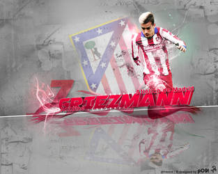 Antoine Griezmann Large Art by pO9-AW