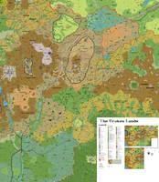 The Broken Lands Eastern half, 1 mile hexes by 6inchnails