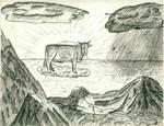 Zeus transforms into a cow