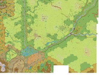 Ethengar southwest 1 mile hex by 6inchnails
