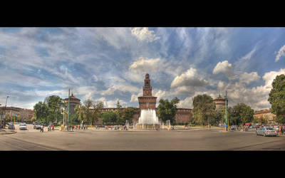 Piazza castello view HDR by willylorbo
