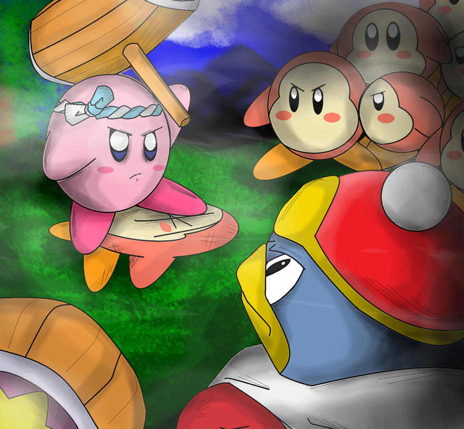 Kirby vs Dedede by shimshomo