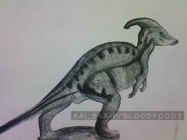 Parasaurolophus by Bloo-DKai12