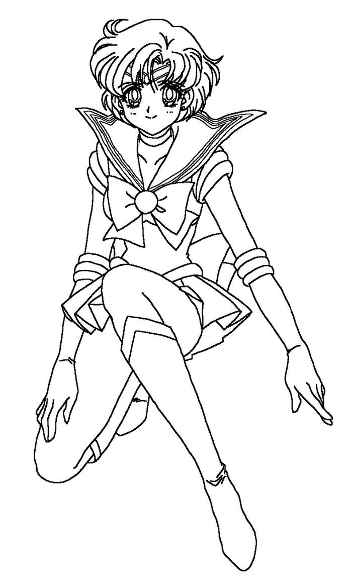 Sailor mercury coloring page by sailortwilight on deviantart for Mercury coloring page
