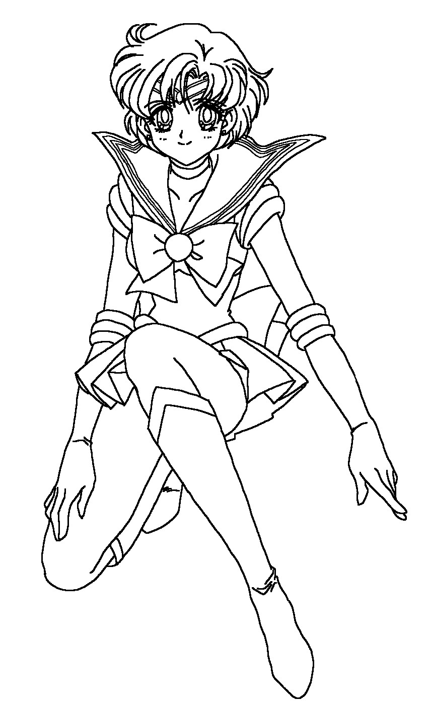 Sailor Mercury Coloring Page by Sailortwilight on DeviantArt