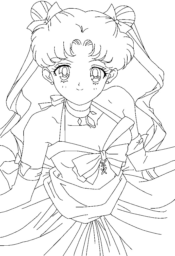 Pretty Usagi Coloring Page by Sailortwilight on DeviantArt