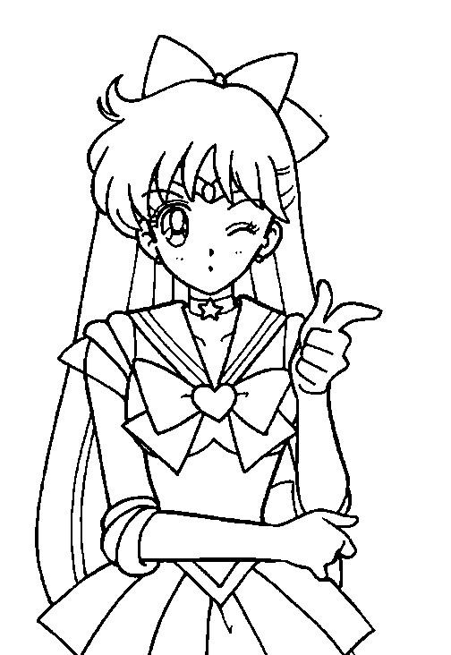 Sailor Mars Coloring Page // #sailormoon | Moon coloring pages ... | 732x504