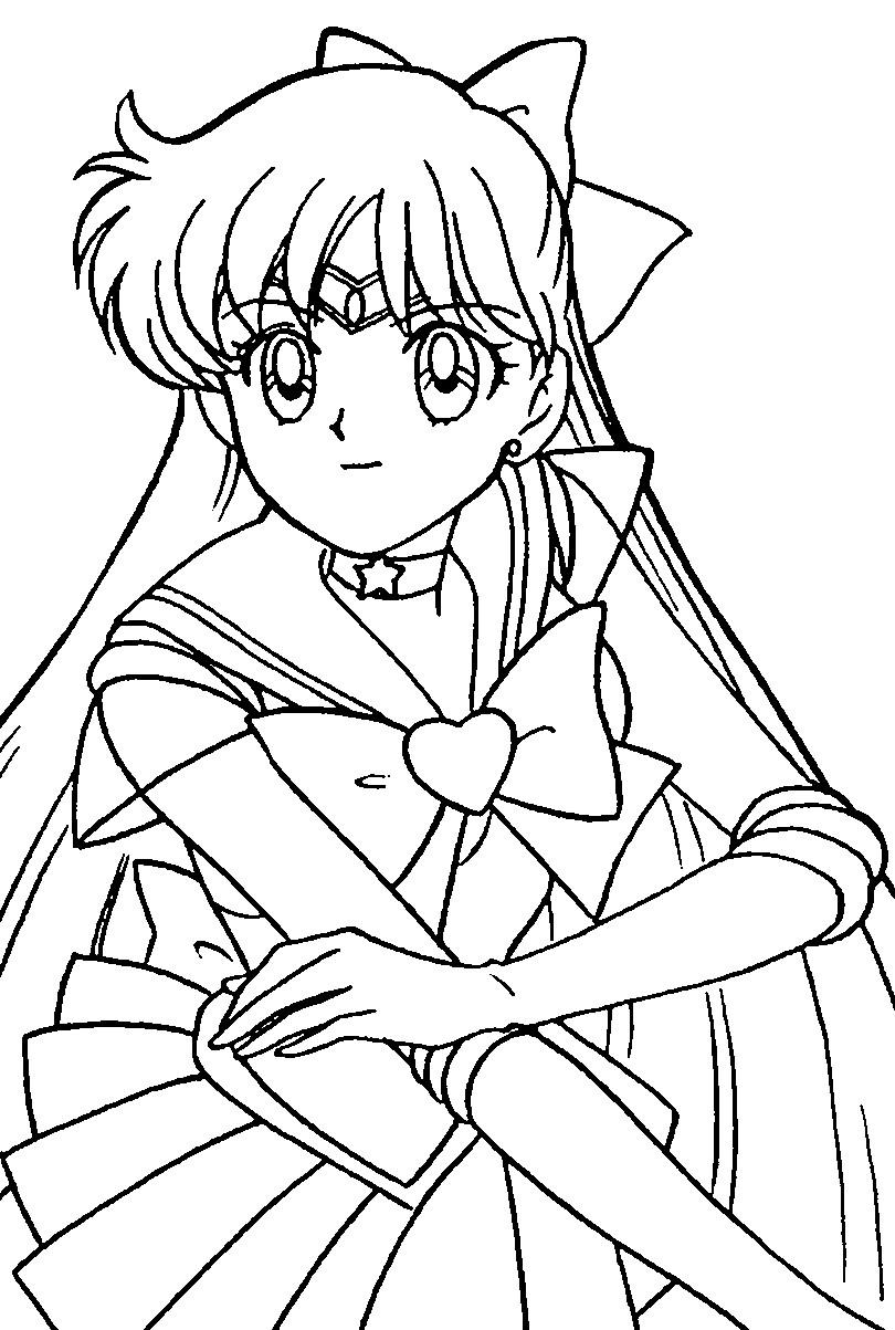 Super Sailor Venus Coloring Page 2 By Sailortwilight