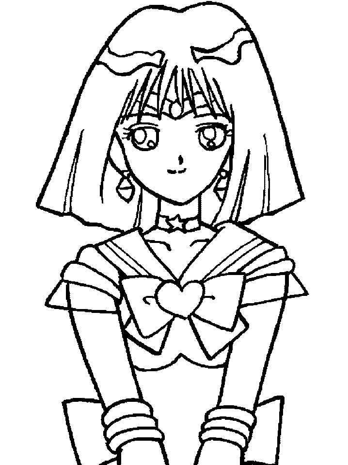 sailor moon coloring pages saturn - photo#5