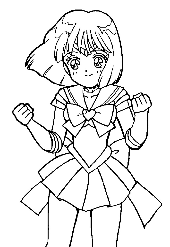 Super Sailor Saturn Coloring Page 2 By Sailortwilight On Deviantart Saturn Coloring Page