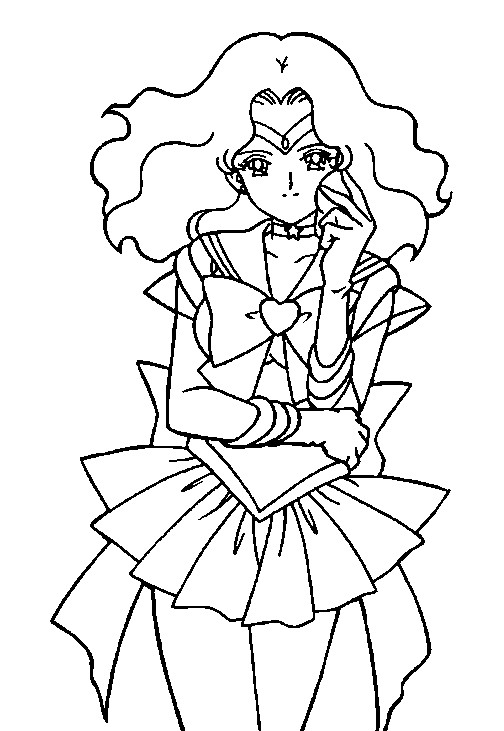 Super Sailor Neptune Coloring Page 2 by Sailortwilight on