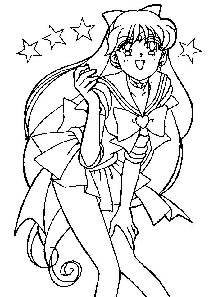 Super Sailor Venus Coloring Page 3 By Sailortwilight On Sailor Venus Coloring Pages