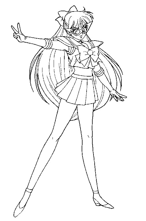 codename sailor v coloring page by sailortwilight on