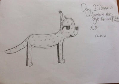 30 day art challenge~ day 2~ draw in another style by Nightstar72