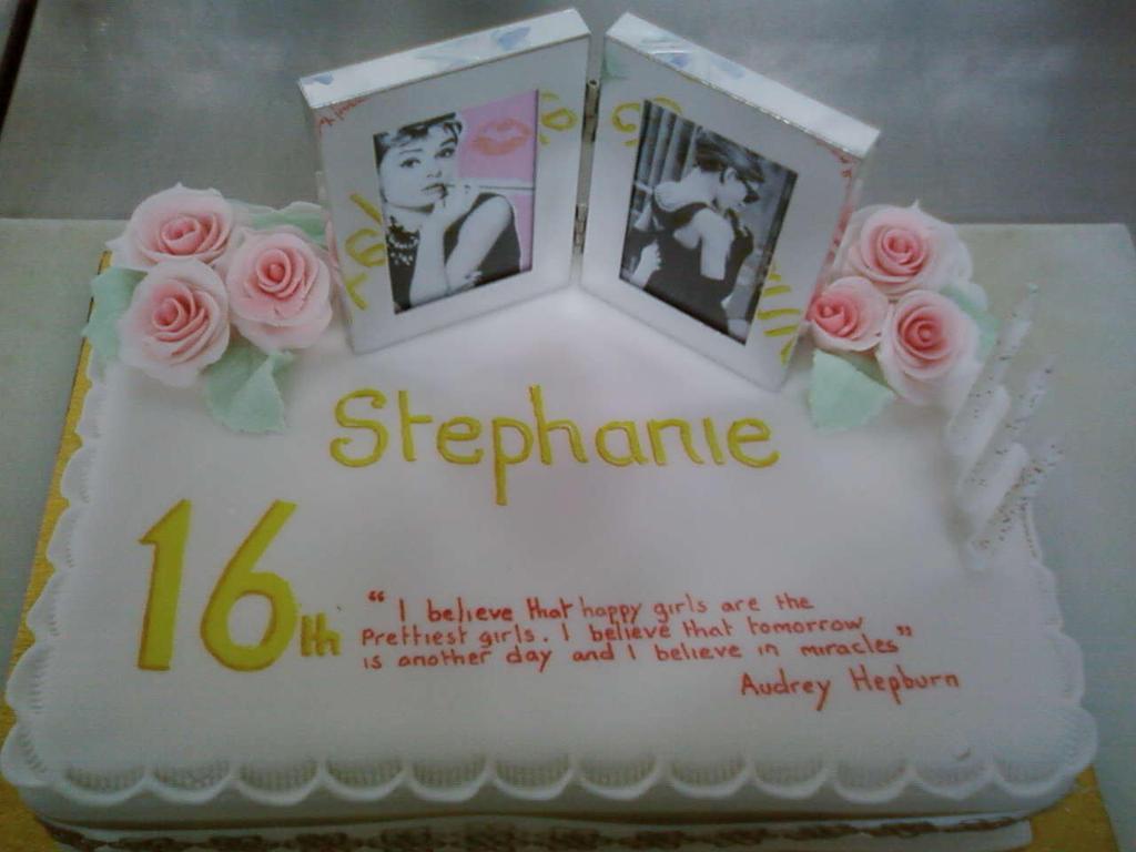 Audrey Ross Cake Artist : 16th Audrey Hepburn Cake by chefkemp on DeviantArt