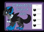 Cameo's Friend List