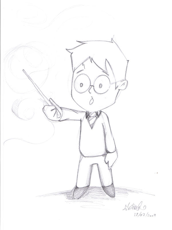 how to draw a cartoon robe for harry potter
