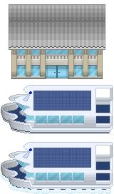 Harbor Building and Ship by PokemonTilesetStudio