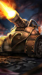 Mortar Tank from Petagon by OrionArtsGames
