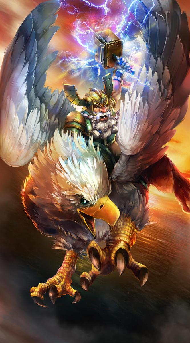 Griffinrider from Petagon by OrionArtsStudio