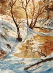 Frozen river by sezarka