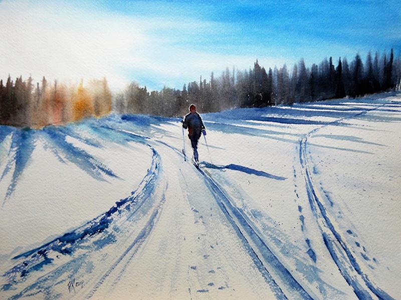 Cross-country skis by sezarka