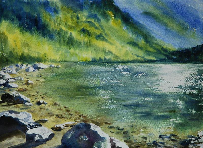 Mountain Lake by sezarka
