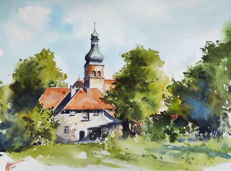 Ostrowite Golubskie - church