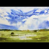 Landscape with sky/Pejzaz z niebem
