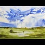 Landscape with sky/Pejzaz z niebem by sezarka