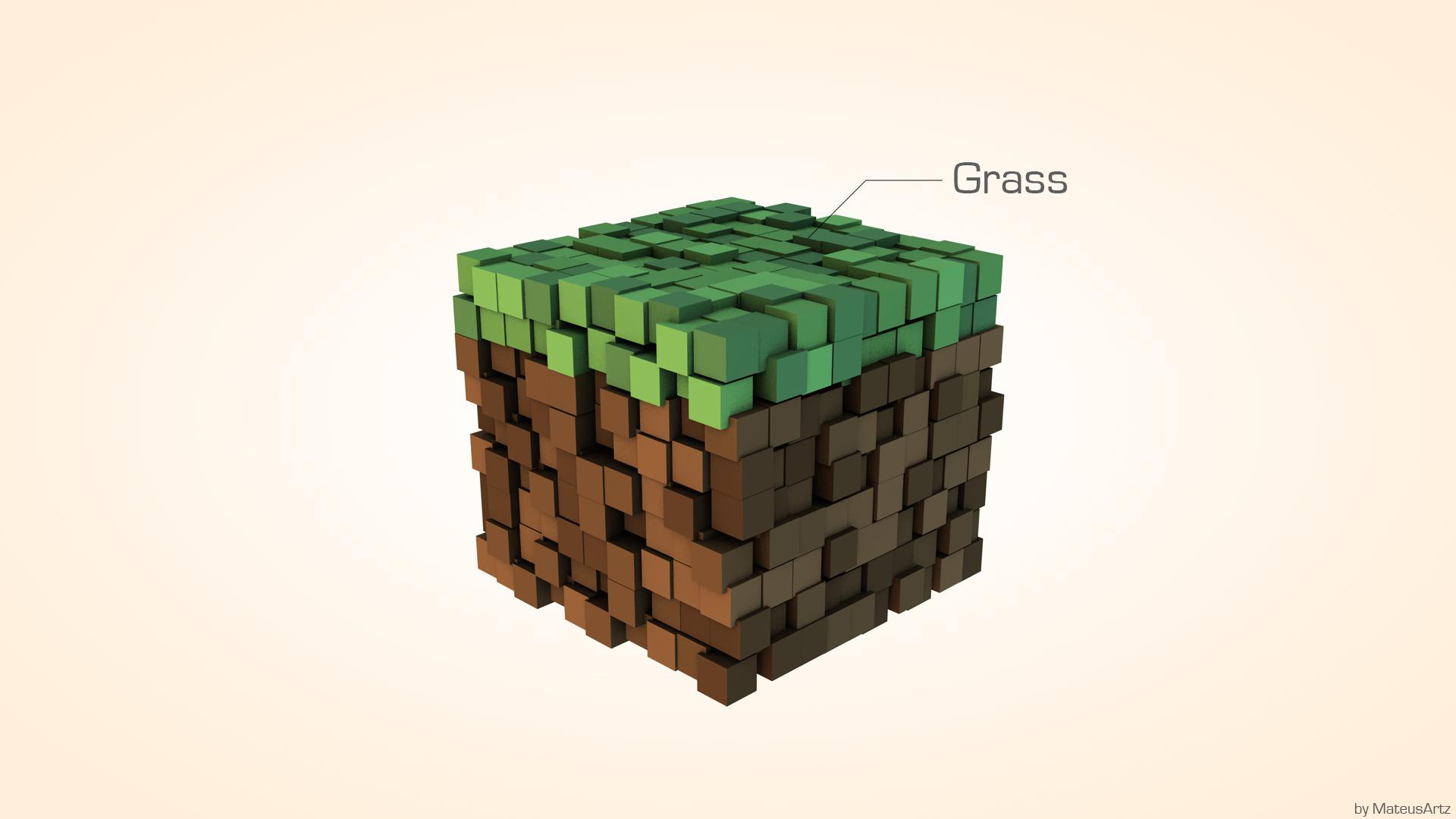 Popular Wallpaper Minecraft Minimalistic - minecraft_minimalist___grass_by_mateusrm94-d4hlh2x  Snapshot_827153.jpg