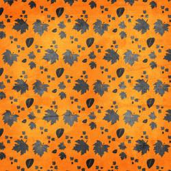 Silver Leaves Orange Texture 4 by rosebfischer