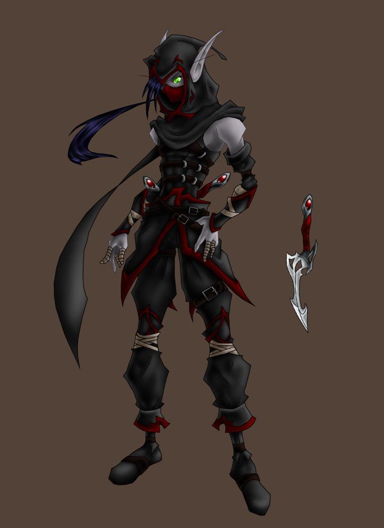 Dark Elf Assassin by Stokes-Works on DeviantArt