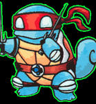 Ninja Squirtle ..  vector by tOkKa