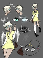 [Character sketch:] ' A l e x a '  by Hooded13