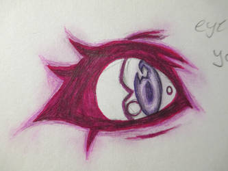 Purple eye by dcgamergirl
