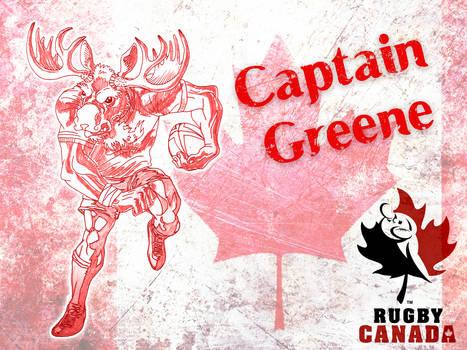 capitain greene canada rugby mascot